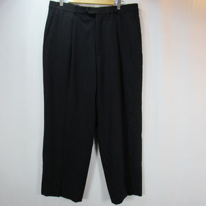 Armani Collezioni Black Wool Pleated Dress Pants